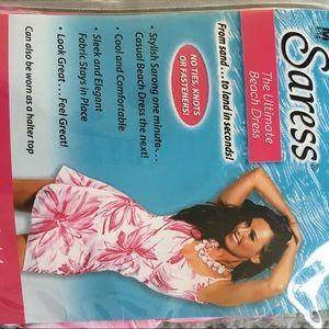5ac3abf43b saress Swim - Saress pink and white swim cover up size M